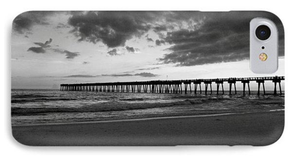 Pier In Black And White Phone Case by Sandy Keeton