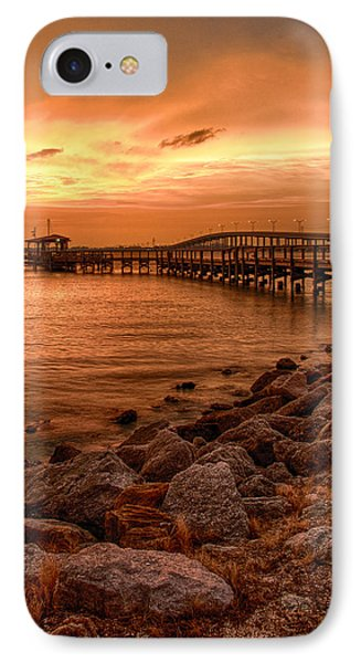 Pier In The Ocean IPhone Case by Celso Diniz