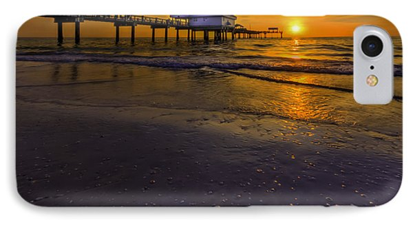 Pier Into The Sun IPhone Case by Marvin Spates