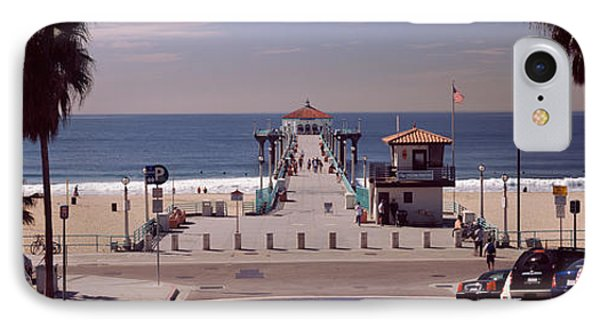 Pier Over An Ocean, Manhattan Beach IPhone Case by Panoramic Images