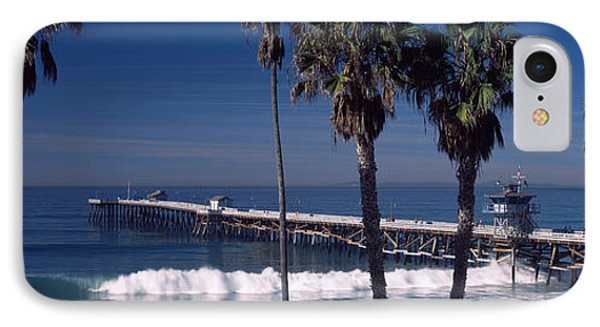 Pier Over An Ocean, San Clemente Pier IPhone Case by Panoramic Images
