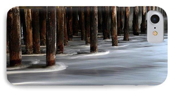 Pier Pilings Santa Cruz California 2 IPhone Case by Bob Christopher