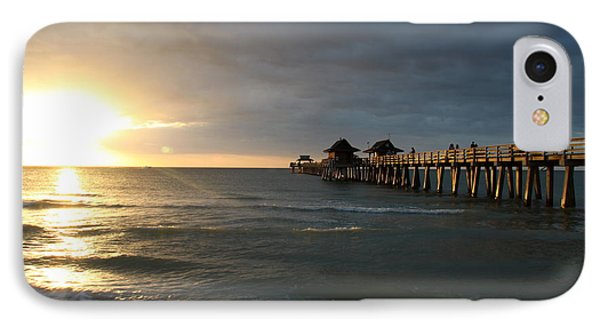 Pier Sunset Naples IPhone Case by Christiane Schulze Art And Photography