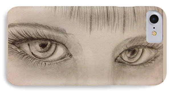 Piercing Eyes IPhone Case by Bozena Zajaczkowska