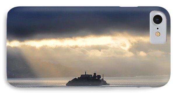 Piercing Through Darkness Light Shines On The Rock IPhone Case
