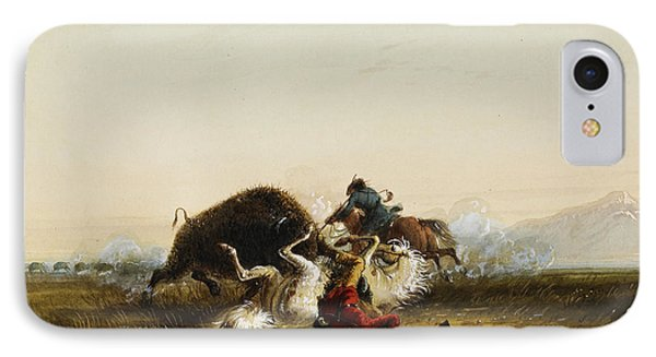Pierre And The Buffalo Phone Case by Alfred Jacob Miller
