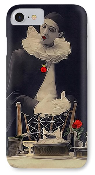 Pierrot Clown Vintage Art The Missing Candle IPhone Case