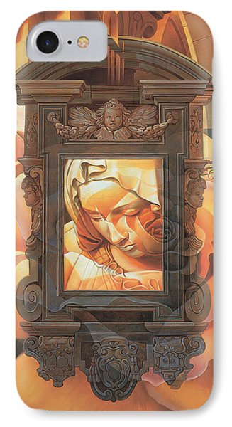 IPhone Case featuring the painting Pieta by Mia Tavonatti