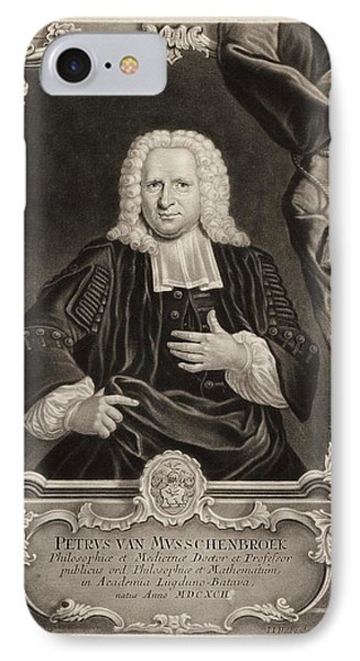 Pieter Van Musschenbroek IPhone Case by Gregory Tobias/chemical Heritage Foundation