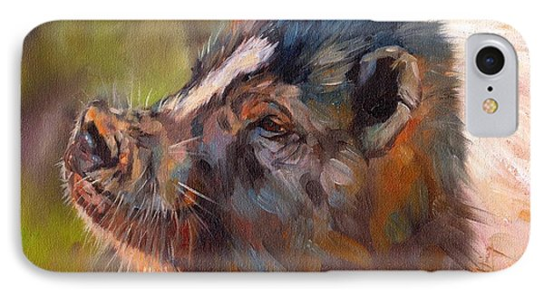 Pig Phone Case by David Stribbling