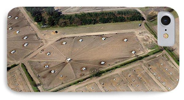 Pig Farm Overhead View IPhone Case by Victor De Schwanberg