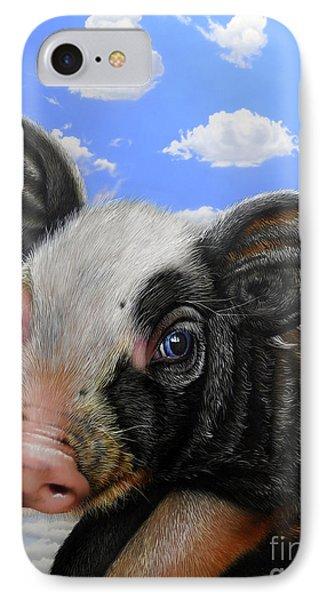 Pig In The Sky Phone Case by Jurek Zamoyski