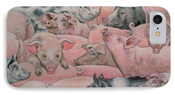 Pig Spread IPhone 7 Case by Ditz