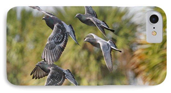 Pigeon Brigade Phone Case by Deborah Benoit