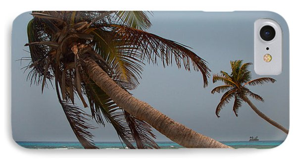 Pigeon Cays Palm Trees IPhone Case
