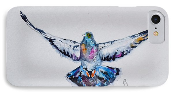 Pigeon In Flight IPhone Case by Beverley Harper Tinsley