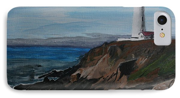 IPhone Case featuring the painting Pigeon Lighthouse Daytime Titrad by Ian Donley