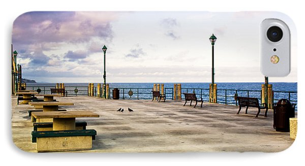 Pigeon Meeting At Redondo Pier IPhone Case by Joseph Hollingsworth