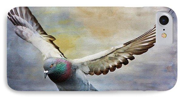Pigeon On Wing Phone Case by Deborah Benoit