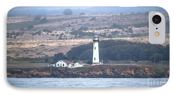Pigeon Point Lighthouse Phone Case by Mitch Shindelbower