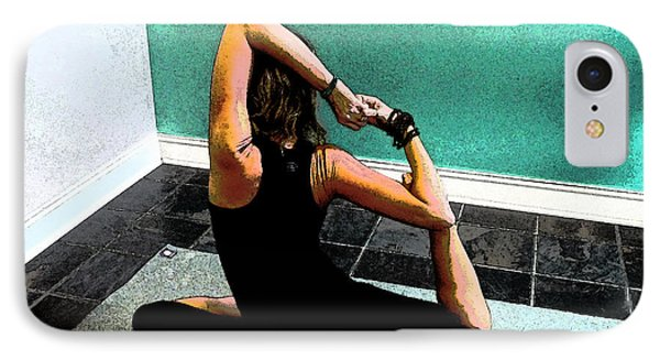 Pigeon Pose Variation IPhone Case by Sally Simon