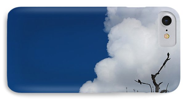 Pigeons Follow Clouds Phone Case by Kym Backland
