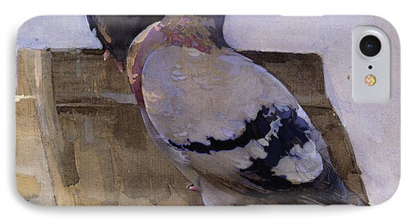 Pigeons On The Roof Phone Case by Joseph Crawhall