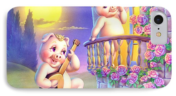 Pigglets Romeo And Juliette IPhone Case by Andrew Farley