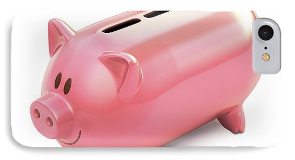 Piggy Bank With Three Slots IPhone Case by Ktsdesign