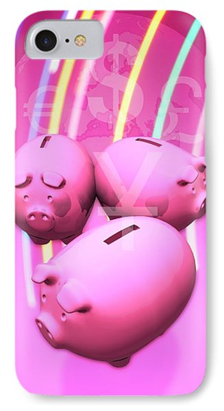 Piggy Banks IPhone Case by Victor Habbick Visions
