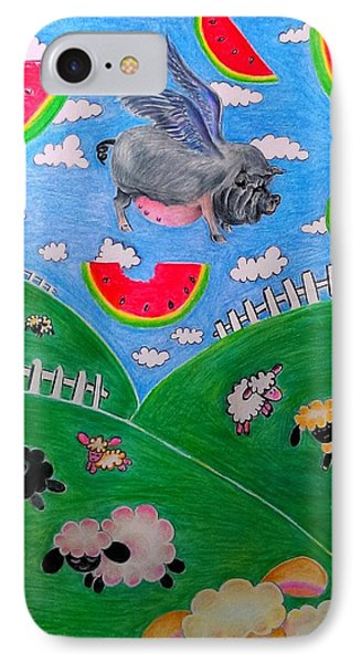Pigs Can't Fly IPhone Case by Denisse Del Mar Guevara