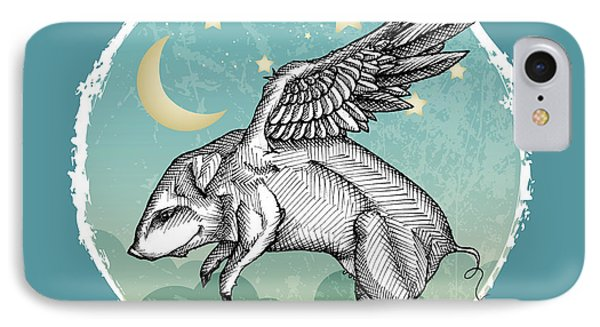 Pigs Fly IPhone Case by Mary Machare