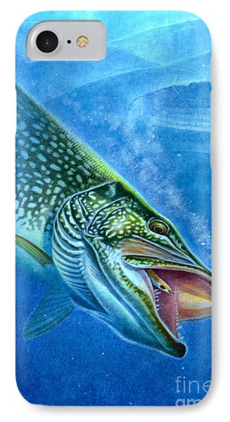 Pike And Ice Fishing Phone Case by Jon Q Wright