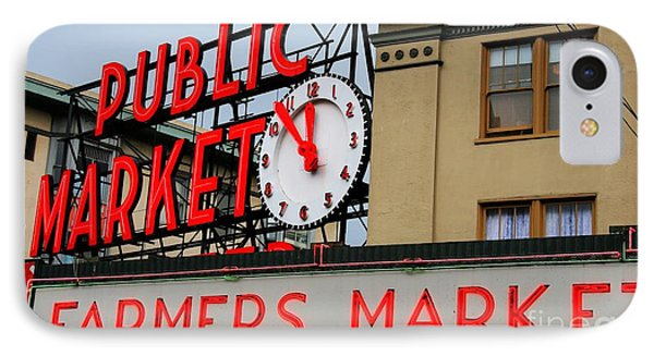 Pike Place Farmers Market Sign IPhone Case