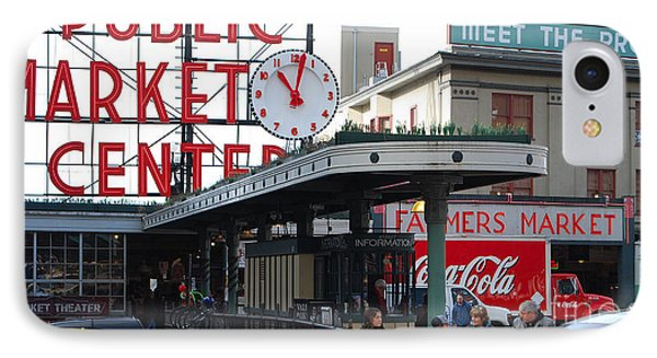 Pike Place Market Center IPhone Case
