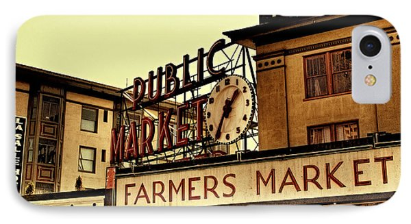 Pike Place Market - Seattle Washington IPhone Case by David Patterson