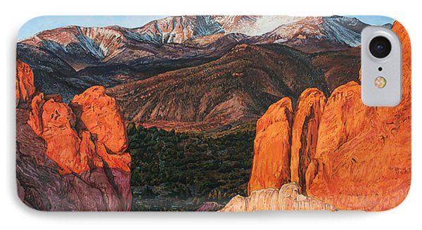 IPhone Case featuring the painting Pikes Peak by Aaron Spong