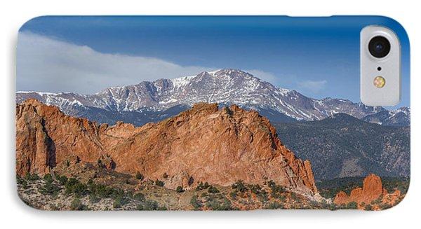 Pikes Peak Behind Garden Of The Gods Phone Case by Ernie Echols