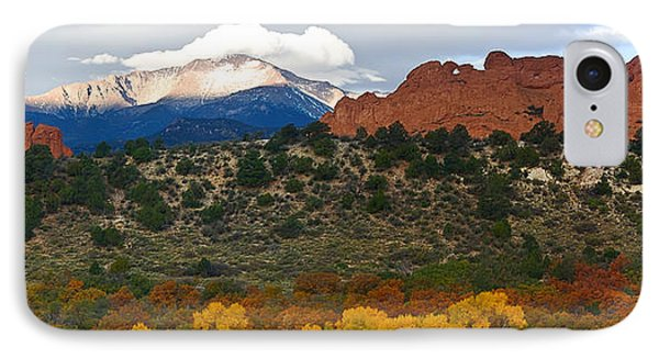 IPhone Case featuring the photograph Pikes Peak Fall Pano by Ronda Kimbrow