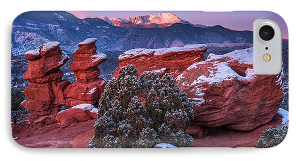 Pikes Peak Sunrise IPhone Case by Darren  White