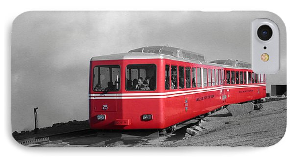 Pikes Peak Train IPhone Case by Shane Bechler