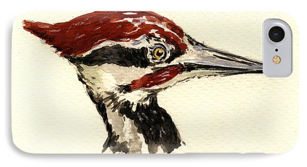 Pileated Woodpecker Head Study IPhone Case