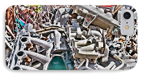 Piles Of Engines - Automotive Recycling Phone Case by Crystal Harman