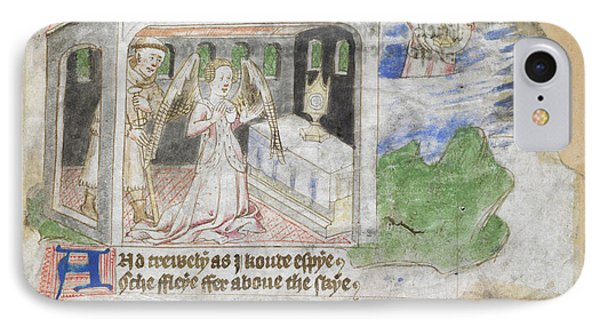 Pilgrim And Prayer In A Chapel IPhone Case by British Library