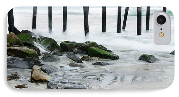 Pilings At Oceanside IPhone Case by Vivian Christopher