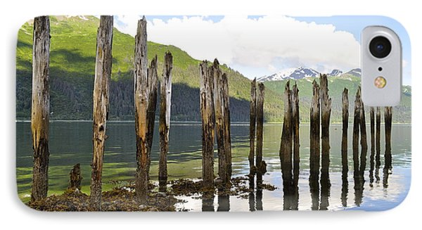 IPhone Case featuring the photograph Pilings by Cathy Mahnke