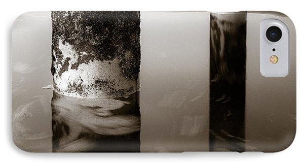 Pillars And Swirls IPhone Case by Dave Bowman