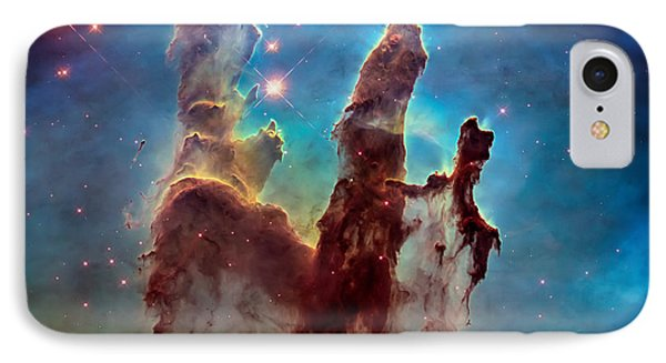 Pillars Of Creation In High Definition - Eagle Nebula IPhone Case by Jennifer Rondinelli Reilly - Fine Art Photography
