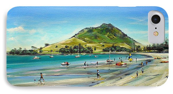 IPhone Case featuring the painting Pilot Bay Mt M 050110 by Sylvia Kula