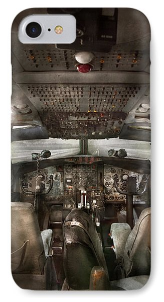 Pilot - Boeing 707  - Cockpit - We Need A Pilot Or Two Phone Case by Mike Savad